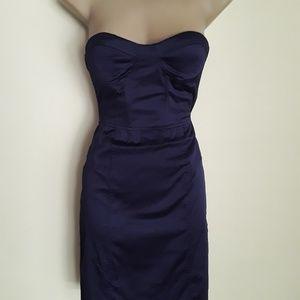 Dresses & Skirts - Forever 21 Navy Satin Cocktail Dress M